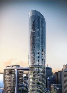 Queen's Wharf Tower 4 - The Skyscraper Center Tower Design, Residential Construction, Commercial Architecture, Architect Design, Under Construction, Colour Images, Brisbane, Colorful Backgrounds