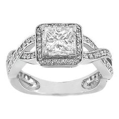 Screw everything I've ever said, this WILL be my engagement ring. Princess Diamond Vintage infinity Engagement Ring 0.35 tcw.