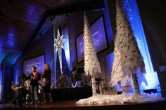Paper Trees from South Ridge Community Church in Clinton, NJ | Church Stage Design Ideas