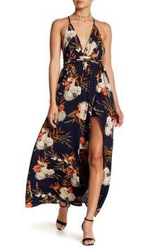 Floral Plunge Maxi Dress