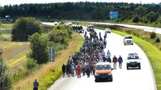 Migrants Enter Denmark, Determined To Reach Sweden