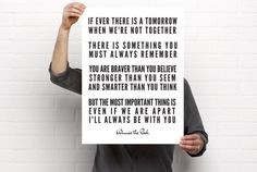 Sizeable/Printable Art, Winnie The Pooh, A.A. Milne, Literary Quote, Gender Neutral Nursery/Children's Room Decor, PDF & PNG by BrightAndBonny on Etsy