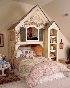 Adorable girls dollhouse bunkbed
