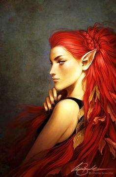 Red head elf girl