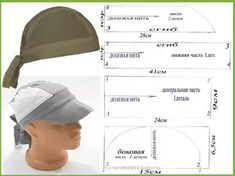The best DIY projects & DIY ideas and tutorials: sewing, paper craft, DIY. DIY Women's Clothing : modello e schema taglio per cucire bandana cappellino vintage -ReadVintage sewing template: Italian pattern for Bandana Vintage, a style kerchief hat wi Scrub Hat Patterns, Hat Patterns To Sew, Pdf Sewing Patterns, Clothing Patterns, Scrub Hats, Hat Making, Sewing Techniques, Mode Inspiration, Baby Sewing