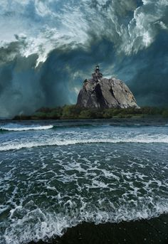 3475 by peter holme iii on 500px - Storm clouds gathering. Lighthouse, beach, & shoreline.
