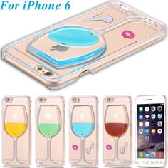 Customized Phone Cases New Creative Back Cover For Iphone 6/6plus Liquid Quicksand Red Lip High Heels Red Wine Glass Clear Transparent Phone Case Design Cell Phone Case From Mayiandjay, $2.47