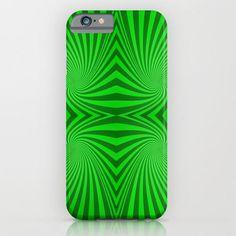 Green swirls iPhone 6 Slim Case