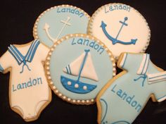 Baby Shower Favor  Sailor  Anchor  sailboat  by Baileysdozen, $39.00