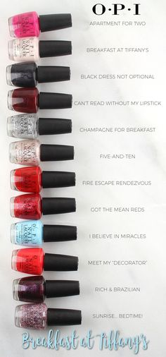 OPI Breakfast at Tiffany's Nail Lacquer Collection