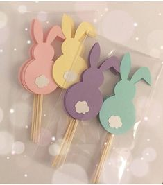 Easter Bunny Cupcake Topper Bunny Turning One Toppers Bunny Turning One Decor Easter Decor Easte Bunny Crafts, Easter Crafts, Crafts For Kids, Easter Birthday Party, Bunny Birthday, Birthday Parties, Oster Dekor, Ostern Party, Easter Bunny Cupcakes