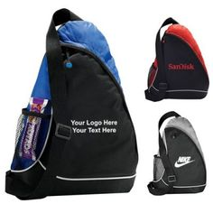 "Custom Imprinted Sling Shot Sling Bags: Available Colors: Gray, Red, Royal Blue Product Size: 17"" H x 13"" W x 3.5"" L. Imprint Area: 4"" H x 4"" W. Carton Weight: 24.25 lbs. Packaging: 50 pieces. #SlingShotBags #promotionalproduct #customproduct  #custombags  #customslingbag"