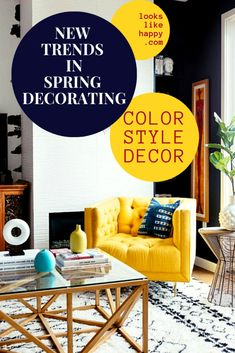 New Trends in Spring Decorating- Color, Style & Decor to Revive Your Home Cute Home Decor, Handmade Home Decor, Trendy Colors, Warm Colors, Living Room Designs, Living Room Decor, Living Rooms, How To Clean Copper, Color Style