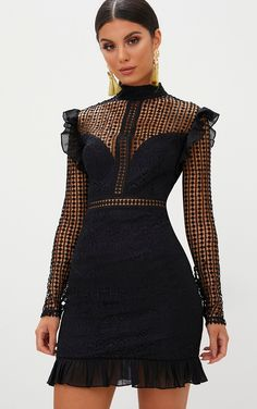 Black Lace Chiffon Frill Detail Bodycon Dress - - Black Lace Chiffon Frill Detail Bodycon DressLook lush in lace girl in this stunning white bodyco… Source by Stylish Dresses, Elegant Dresses, Cute Dresses, Casual Dresses, Short Dresses, Fashion Dresses, Denim Dresses, Frilly Dresses, Women's Dresses