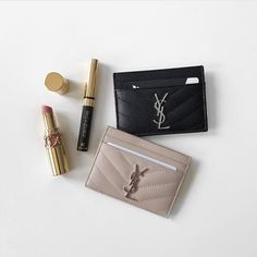 If my card holders are as pretty as these @ysl ones, i'd be delighted to get more id's and credit cards!  (by: @elle_and_i )