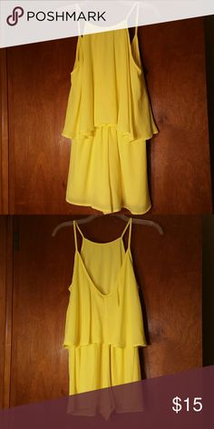 Yellow Romper Bright yellow romper. Cover photo is of the front. Made of 100% polyester. New without the tags Lovely day Other