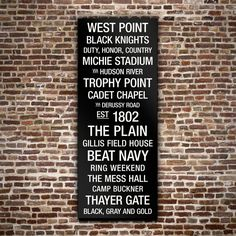 #Army #Wall #Art - I need this for my son who graduated two years ago from West Point.