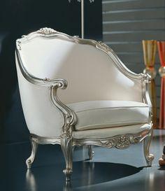 MM.8060 | Wooden armchair | warm silver finishing | velvet fabric | L77 x H95 x P90 cm