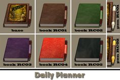 Daily planner | My Sims 2 Clutter Spot