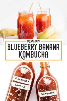 This Blueberry Banana Kombucha is an instant classic with mild banana flavor that's bursting with berry deliciousness! This Blueberry Banana Kombucha is an instant classic with mild banana flavor that's bursting with berry deliciousness! Fermentation Recipes, Homebrew Recipes, Kombucha Fermentation, Kombucha Scoby, Kombucha Flavors, Kombucha Recipe, Kefir, Blueberry Kombucha, Healthy Recipes