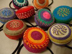 Colitas para el pelo, lanas y color