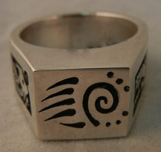 Hopi Chalmers Day Sterling Silver Overlay Ring | eBay