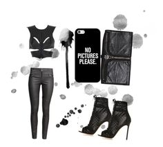 """""""Untitled #33"""" by kameliam on Polyvore featuring Fleet Ilya, H&M, Alexander McQueen, Casetify and Gianvito Rossi"""