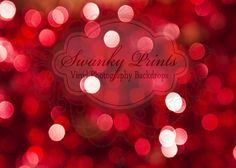 7ft x 5ft RED Bokeh GLITTER HOLIDAY Vinyl Backdrop / Custom Photo Prop / Christmas. $69.99, via Etsy.