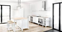 Für ein neuartiges Küchen- und Tischkonzept erweist sich die BauBuche wie gemacht.