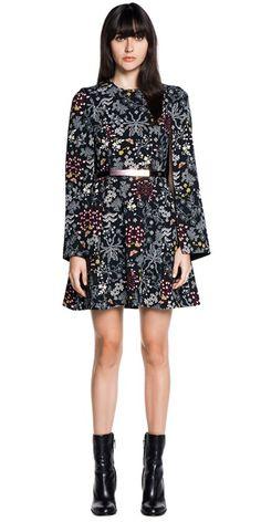 Dresses | Floral Crepe Flare Sleeve Dress