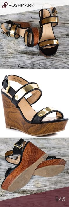Report Signature Elayna Wedge Report Signature  Elayna Wedge Heels Size 8 Sold out everywhere  EUC Report Signature Shoes Heels