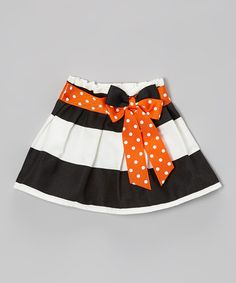 Look what I found on #zulily! Orange & Black Polka Dot Skirt - Infant & Toddler by Caught Ya Lookin' #zulilyfinds