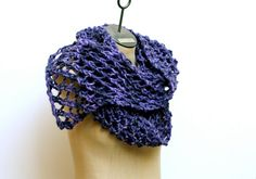Made to Order: Misty Violet Hand Knit Wool Mohair by AmyLaRoux