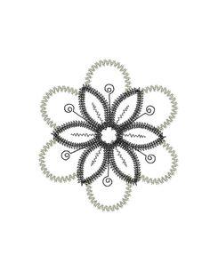 Crazy Petals applique machine embroidery set. by VStitchDesigns