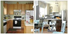 Blogger Cristina of Remodelando la Casa gave her kitchen a serious facelift by extending the height of her cabinets to the ceiling.  Get the tutorial Remodelando la Casa.