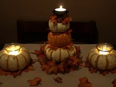 Perfect centerpiece ideas for a thanksgiving catered event.