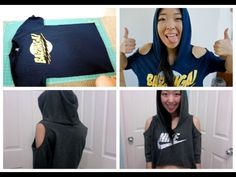 DIY T-shirt Hoodie - YouTube