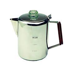 13215 Features: -Heavy-gauge seamless construction. -Precision fitted parts. -Stainless steel percolator. Product Type: -Percolators. Color: -Silver. Material: -Metal. Filter Basket Material Details: ...