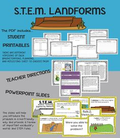 STEM Engineering is not just for big kids! Your students will love this STEM design brief where they get to plan, create, and reflect on creating a landform. You will love it because it includes a PDF and Powerpoint to help make teaching STEM easy! $ #STEM #earlychildhood #landforms