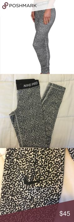Nike Pro Cheetah Print Ankle Leggings These are super cute and fun Nike Pro Ankle Length Leggings! I've only worn these ONCE and have decided to sell them because they are not my style, they are very comfy and fun! Nike Pants Leggings