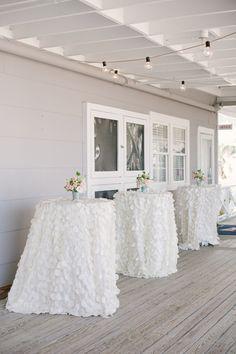 white ruffled linens   Britt Croft