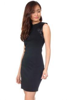 CARNES CORPORATE BLACK DRESS Price : RM64 #yoloveitmy #yoloveitmalaysia #black #dress #bodyhugging #slim #under100 #sleeveless #elegant #smart #casual #formal