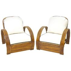 Bamboo Lounge Chairs with Ottoman 1