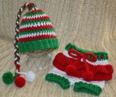 Elf Hat and Diaper Cover by aStitchSouth on Etsy, $30.00