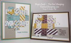 Moonlight Woven Paper Collage Cards - SU! Designer series paper -- very nice use