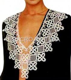 Elegant crochet collar. Diagram here on this board
