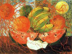 """""""fruta de vida"""", óleo de Frida Kahlo (1907-1954, Mexico)"""