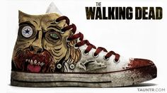 The Walking Dead zombie high-top converse sneakers