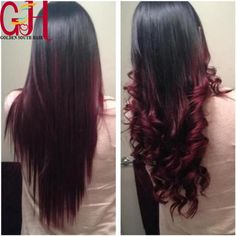 Free Shipping 7A Glueless Ombre Full Lace Human Hair WigsBrazilian Lace Front Wigs Two Tone #1bT Wine Red Silky Straight Wig