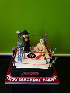 WWE wrestling cake. Boy Cakes, Cakes For Boys, Wwe Cake, Wrestling Cake, Sport Cakes, Celebration Cakes, Birthday Cakes, Amazing, Sports